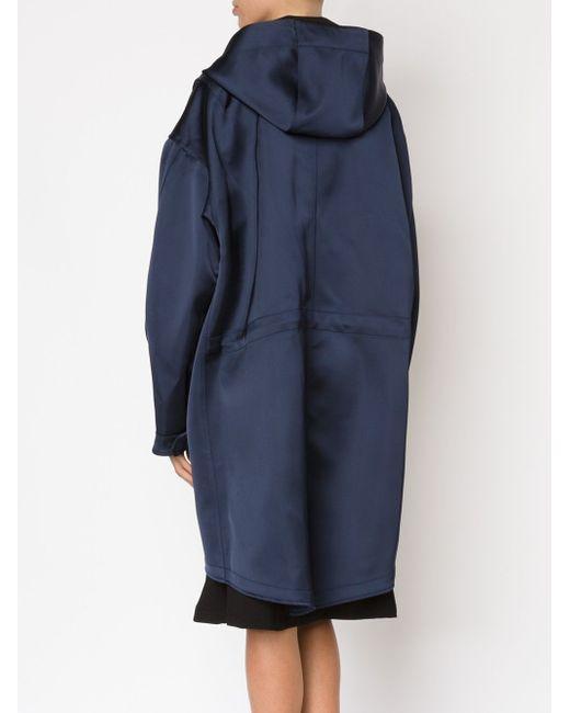 Объемная Куртка С Капюшоном NOMIA                                                                                                              синий цвет