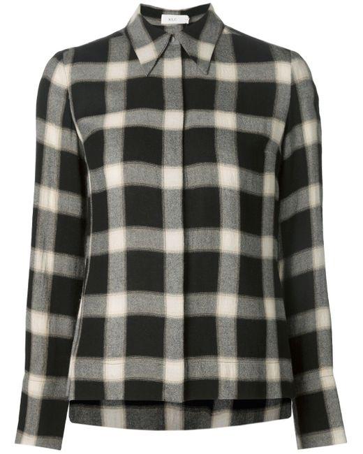 Рубашка В Клетку A.L.C.                                                                                                              чёрный цвет