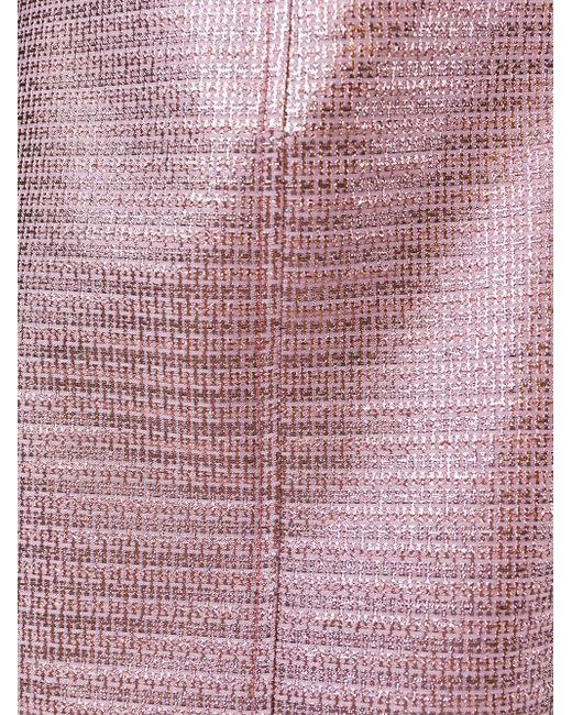 Жаккардовая Мини-Юбка Carven                                                                                                              розовый цвет