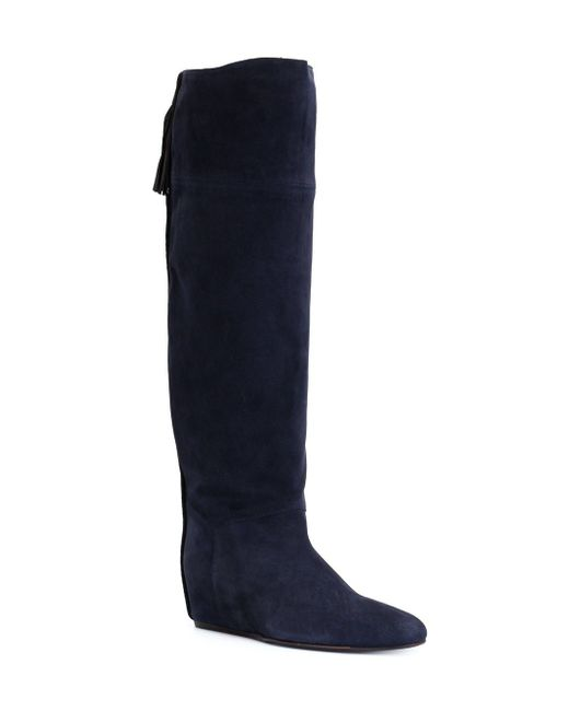 Concealed Wedge Tassel Boots Lanvin                                                                                                              синий цвет