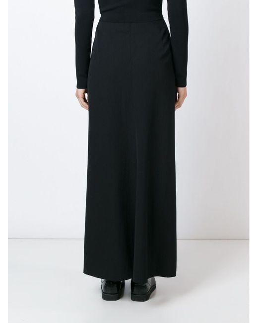 Юбка Макси YOHJI YAMAMOTO VINTAGE                                                                                                              чёрный цвет