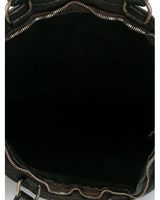 Сумка-Тоут На Молнии GUIDI                                                                                                              чёрный цвет