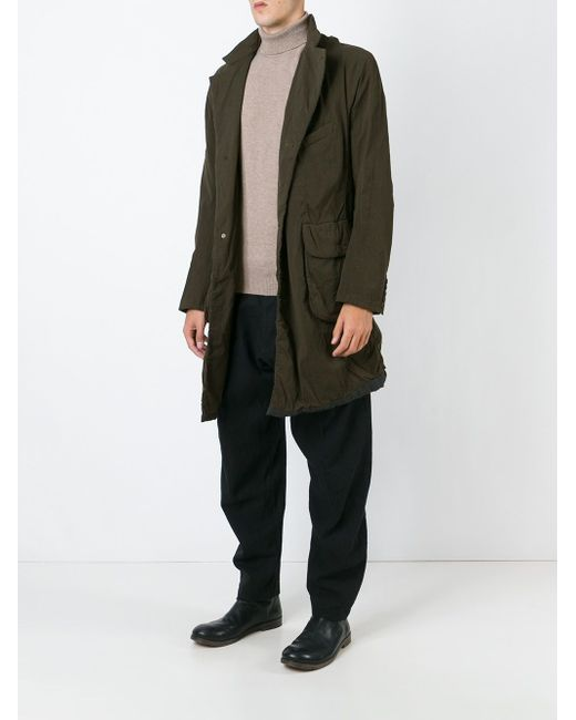 Пальто В Стиле Милитари ZIGGY CHEN                                                                                                              зелёный цвет