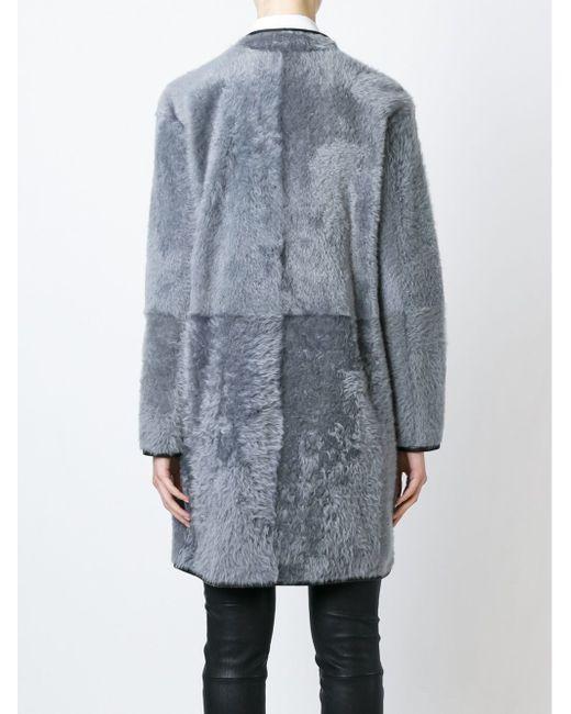 Двубортное Пальто На Молнии Drome                                                                                                              серый цвет