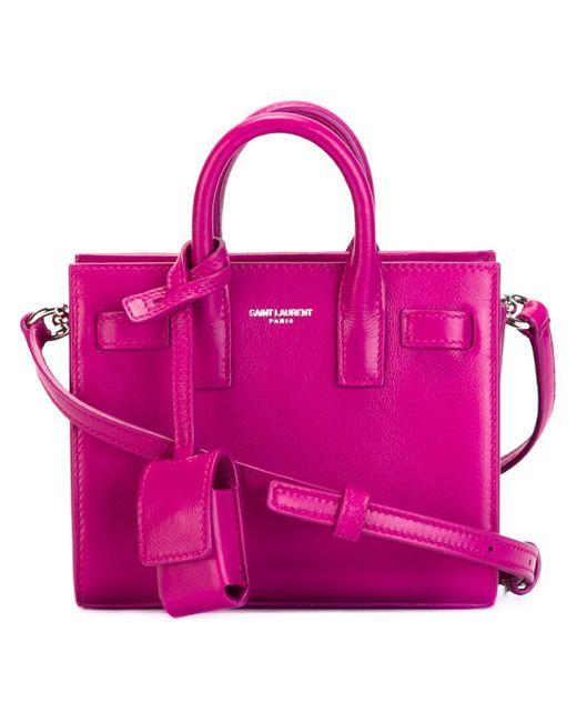 Маленькая Сумка-Тоут Sac De Jour Saint Laurent                                                                                                              розовый цвет