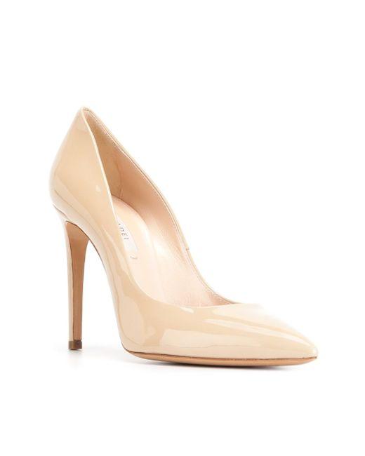 Туфли С Заостренным Носком Casadei                                                                                                              Nude & Neutrals цвет