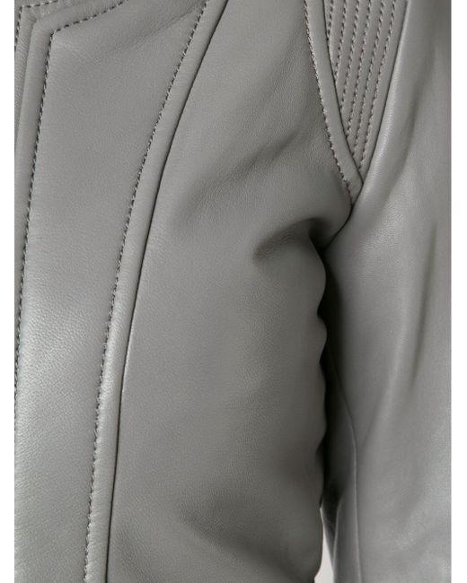 Кожаная Куртка На Молнии Barbara Bui                                                                                                              серый цвет