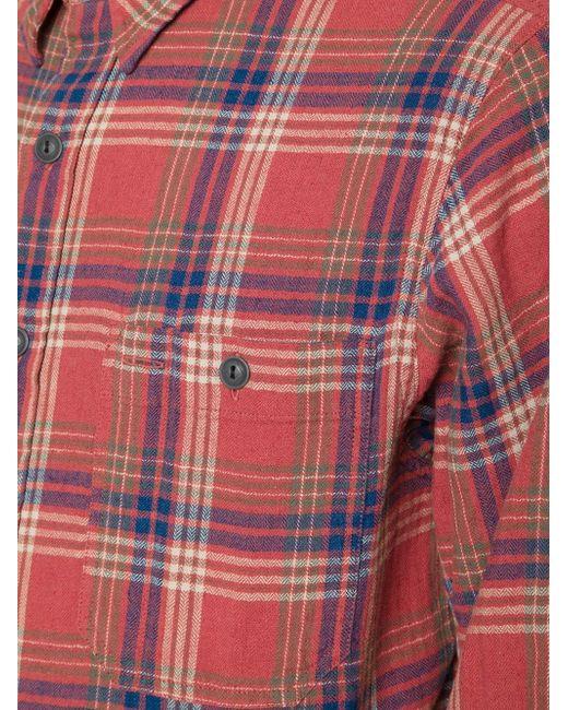 Рубашка В Клетку RRL                                                                                                              красный цвет