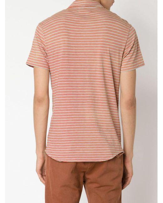 Striped Polo Shirt RRL                                                                                                              желтый цвет