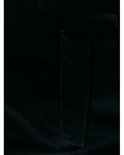 Расклешенные Бархатные Брюки MSGM                                                                                                              синий цвет