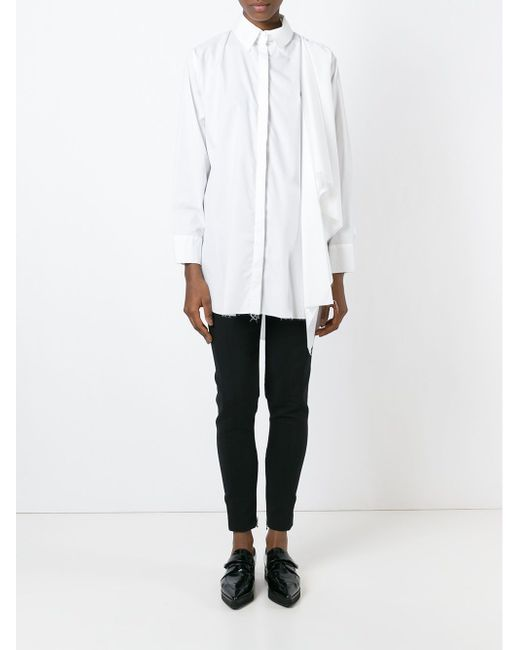 Драпированная Рубашка Marques Almeida                                                                                                              белый цвет
