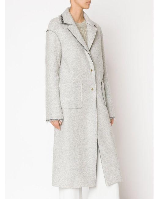 Single Breasted Long Coat HELLESSY                                                                                                              серый цвет