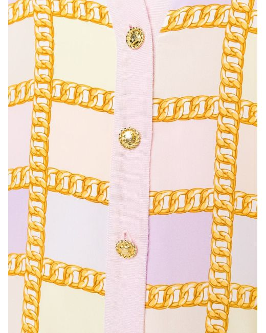 Кардиган С Цепочным Узором Celine Vintage                                                                                                              розовый цвет