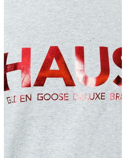 Logo Print T-Shirt HAUS                                                                                                              серый цвет
