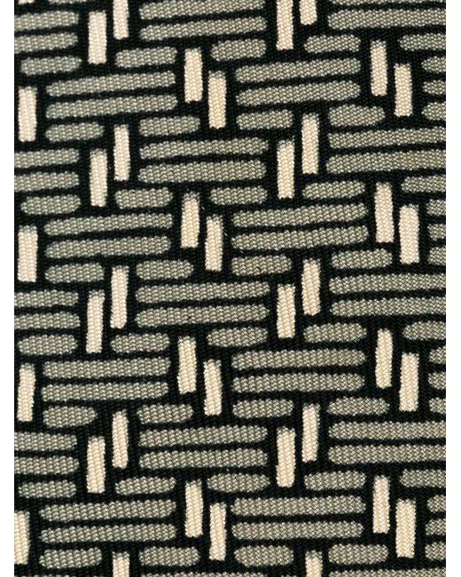 Geometric Print Tie Hermès Vintage                                                                                                              серый цвет