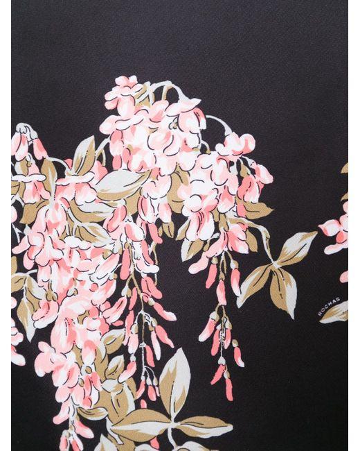 Свободный Топ С Цветочным Принтом Rochas                                                                                                              чёрный цвет