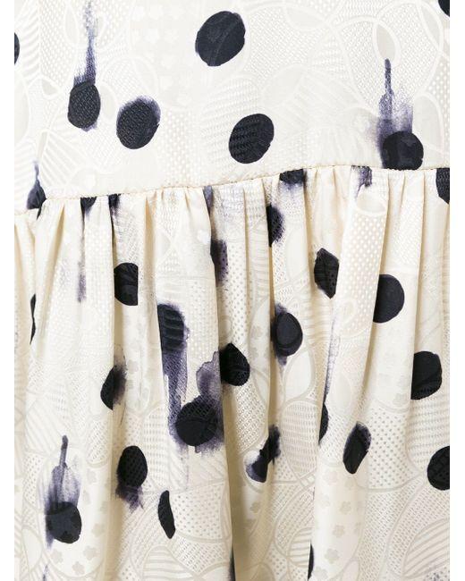 Платье В Горошек ERIKA CAVALLINI SEMICOUTURE                                                                                                              Nude & Neutrals цвет