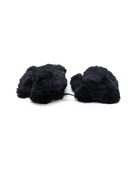 Rabbit Fur Gloves Yves Salomon                                                                                                              серый цвет