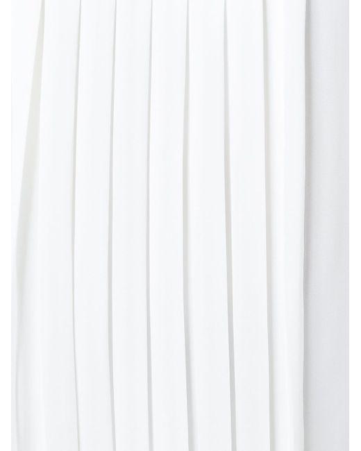 Pleated Front Top Michael Michael Kors                                                                                                              белый цвет