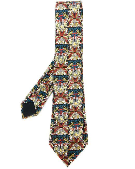 Native American Print Tie Hermès Vintage                                                                                                              многоцветный цвет