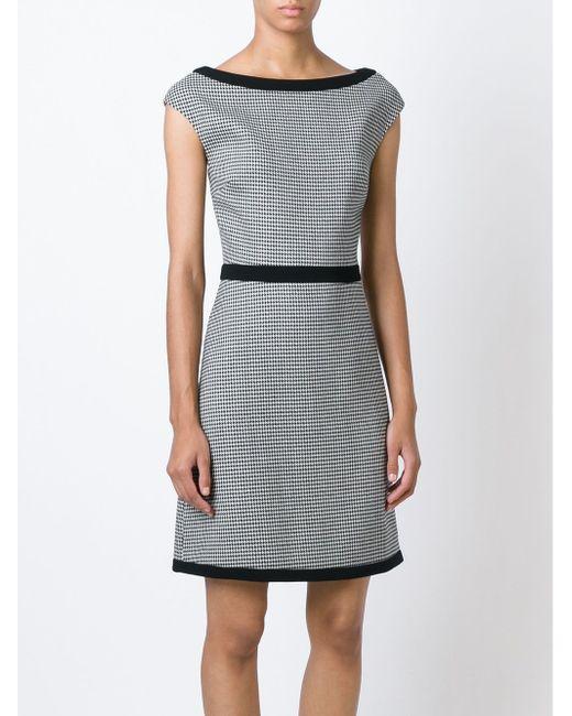 Houndstooth A-Line Dress BOUTIQUE MOSCHINO                                                                                                              белый цвет