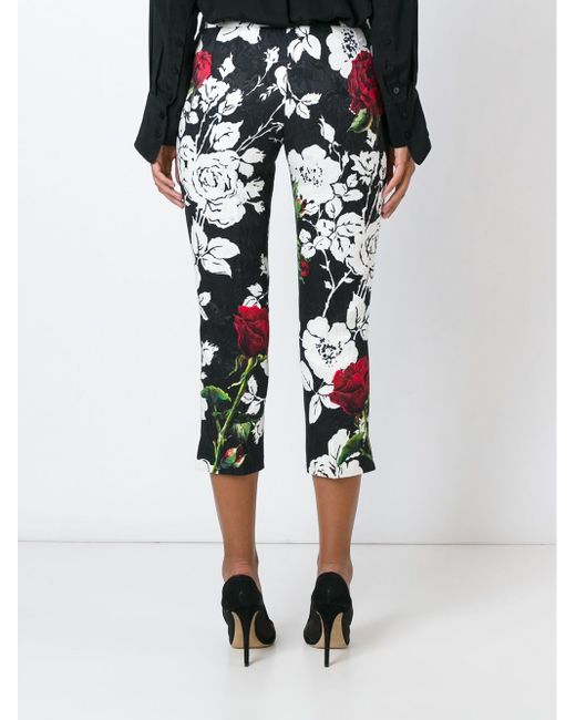 Print Brocade Trousers Dolce & Gabbana                                                                                                              чёрный цвет