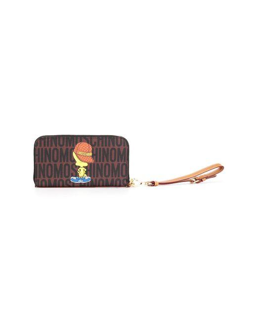 Tweety Monogrammed Wallet Moschino                                                                                                              коричневый цвет
