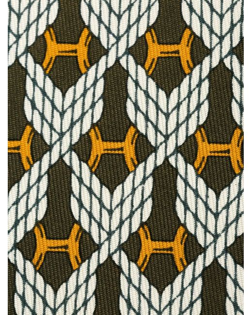 Rope Motif Tie Hermès Vintage                                                                                                              коричневый цвет