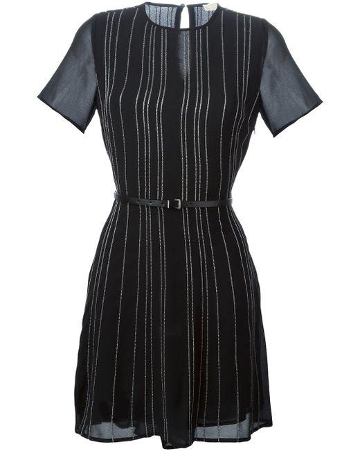 Полосатое Платье С Поясом Michael Michael Kors                                                                                                              чёрный цвет