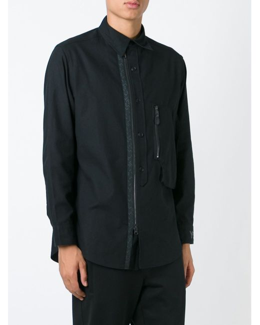 Рубашка С Застежкой На Пуговицах И Молнии Y-3                                                                                                              чёрный цвет