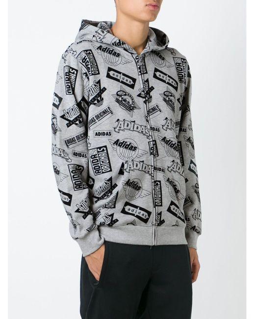 Толстовка С Капюшоном X Nigo adidas Originals                                                                                                              серый цвет