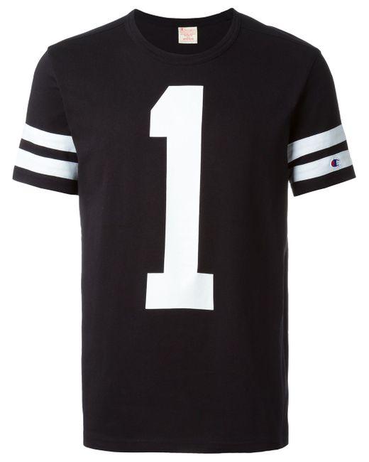 Футболка С Принтом Цифры 1 Champion                                                                                                              чёрный цвет