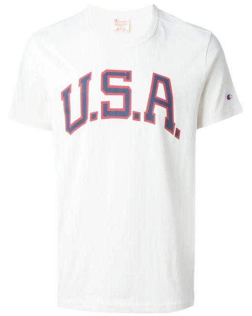Футболка С Принтом Usa Champion                                                                                                              белый цвет