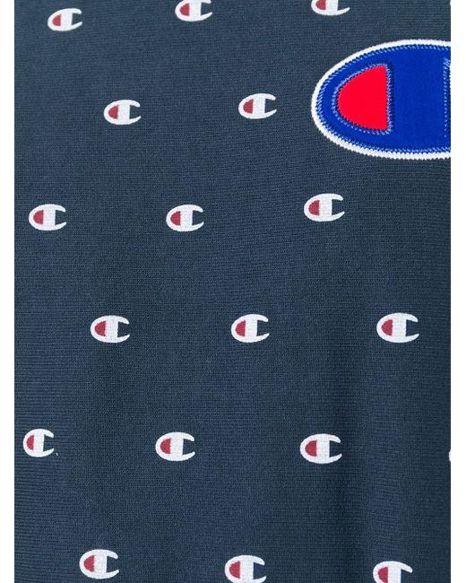 Толстовка С Мини-Принтом Логотипа Champion                                                                                                              синий цвет