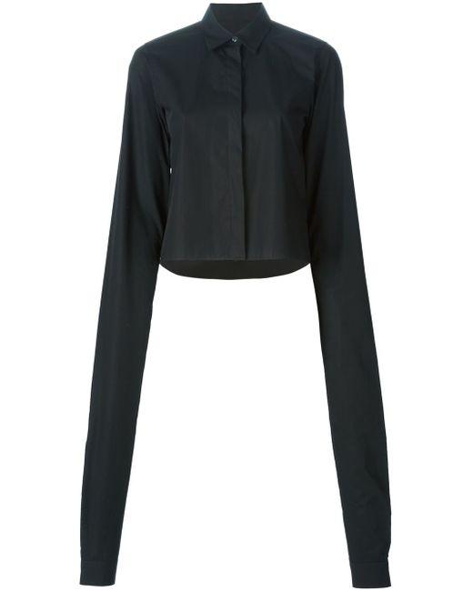 Рубашка С Удлиненными Рукавами MM6 by Maison Margiela                                                                                                              чёрный цвет