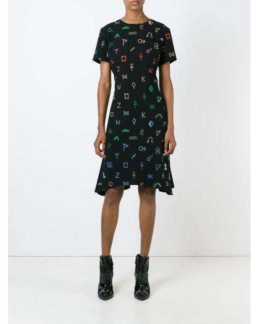 Платье Symbols С Неравномерным Подолом Kenzo                                                                                                              чёрный цвет