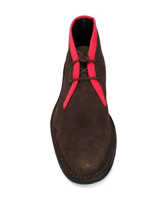 Ботинки-Дезерты С Контрастной Окантовкой Pierre Hardy                                                                                                              коричневый цвет