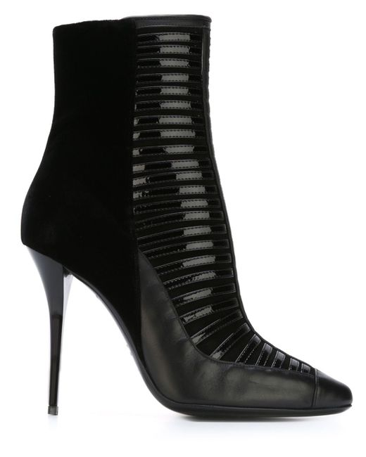 Ботинки По Щиколотку На Шпильке Balmain                                                                                                              чёрный цвет