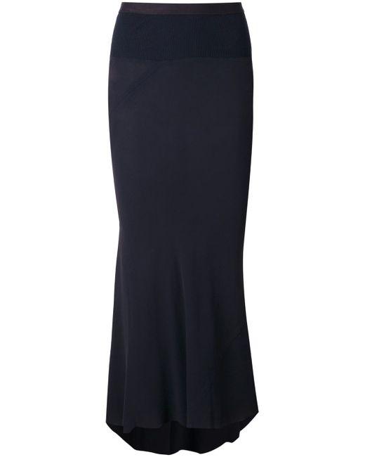 High Low Pleated Skirt Rick Owens                                                                                                              синий цвет