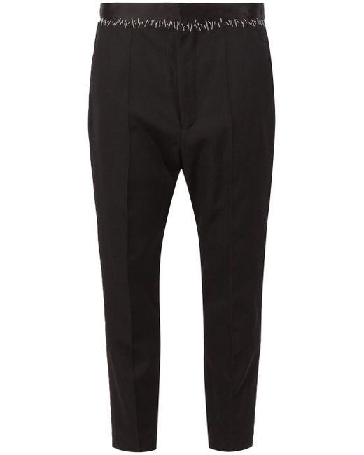 Stitched Detail Trousers Haider Ackermann                                                                                                              чёрный цвет