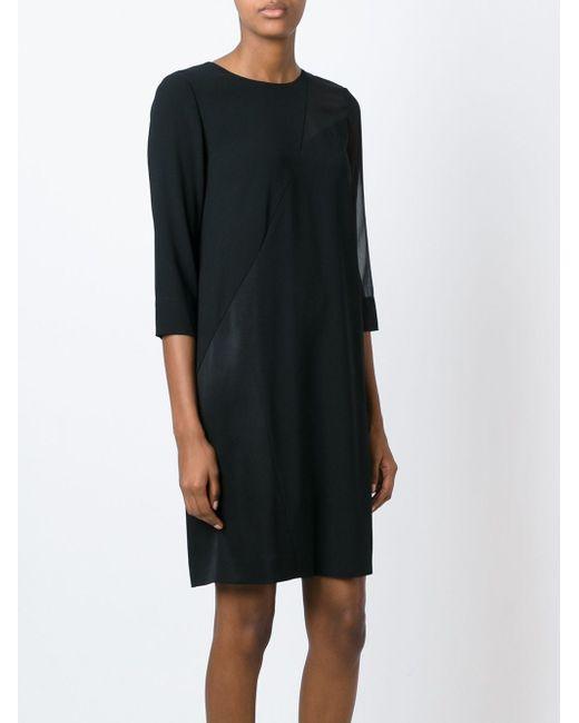 Panelled Sheer Detail Dress DKNY                                                                                                              чёрный цвет