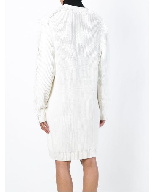 Fringed Sweater Dress Kenzo                                                                                                              белый цвет