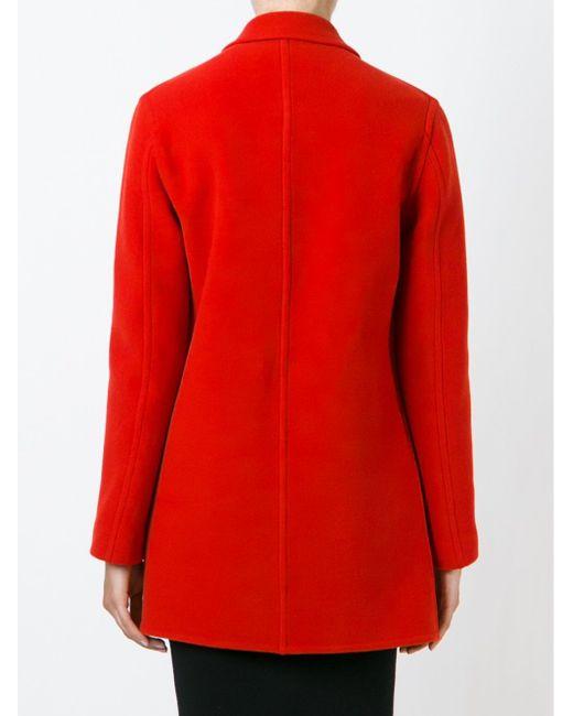 Классическое Пальто Lanvin                                                                                                              красный цвет