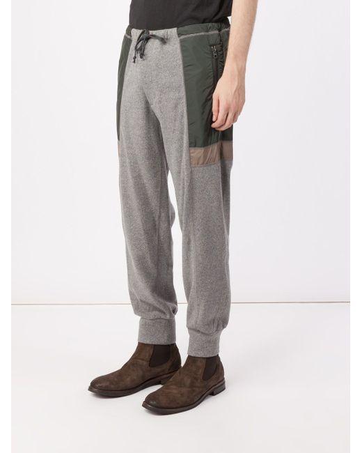 Panelled Track Pants Kolor                                                                                                              серый цвет