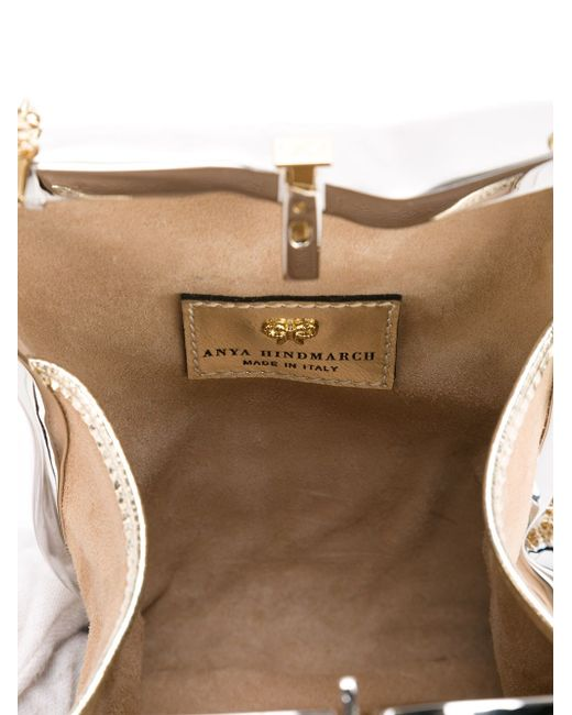 Клатч Crisp Packet Anya Hindmarch                                                                                                              серебристый цвет