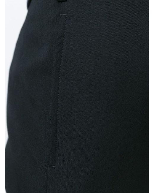 Укороченные Зауженные Книзу Брюки Yohji Yamamoto                                                                                                              чёрный цвет