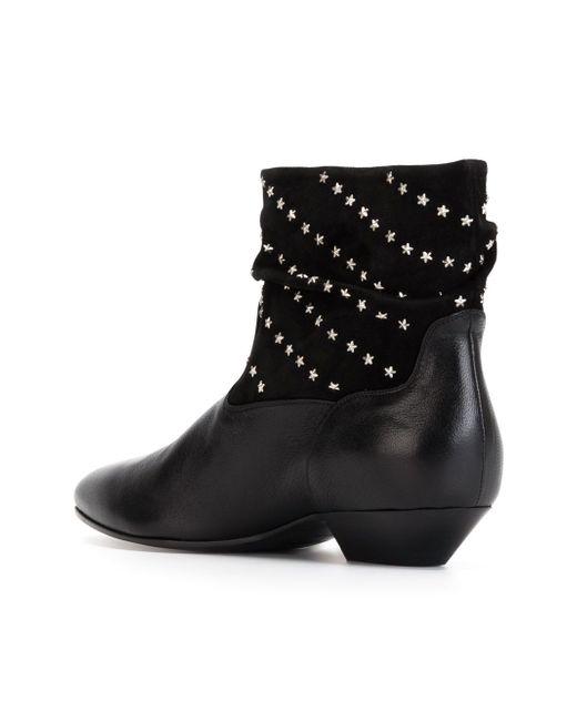 Ботинки С Заклепками Saint Laurent                                                                                                              чёрный цвет