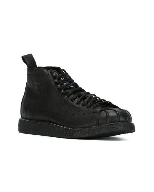 Кеды Nh Shelltoe X Neighborhood adidas Originals                                                                                                              чёрный цвет