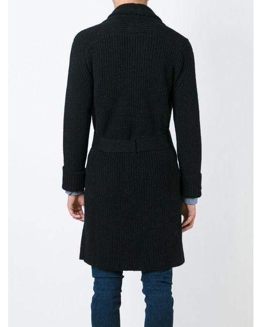 Вязаное Пальто С Поясом Laneus                                                                                                              чёрный цвет
