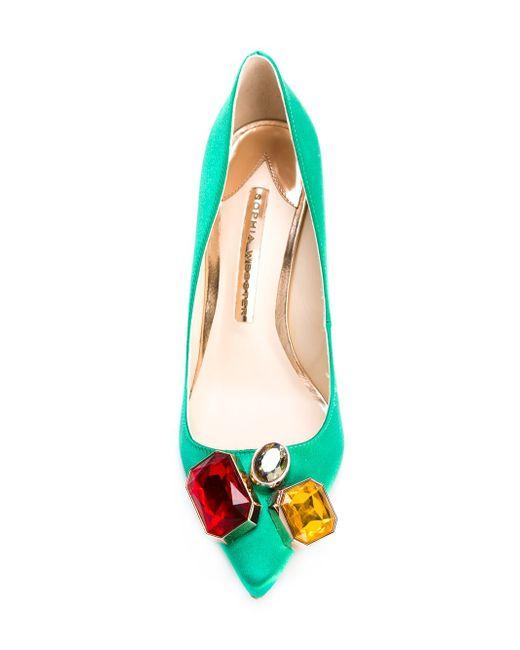 Декорированные Туфли Lola Sophia Webster                                                                                                              зелёный цвет